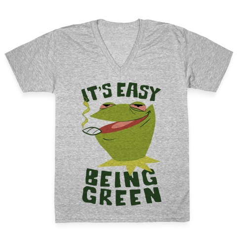 It's Easy Being Green V-Neck Tee Shirt