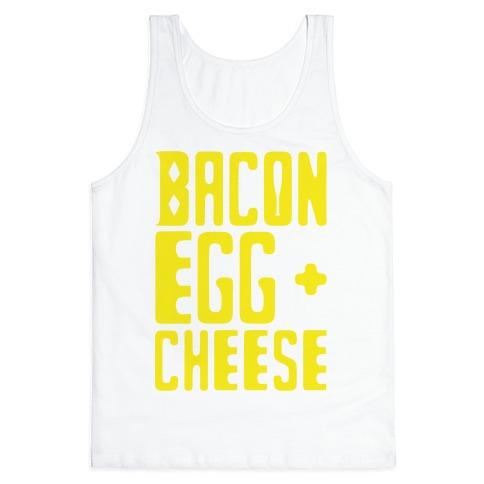 Bacon Egg + Cheese BOP Parody Tank Top