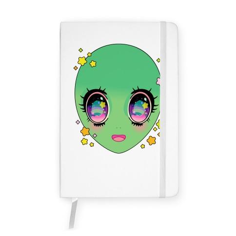 Anime Eyes Alien Notebook