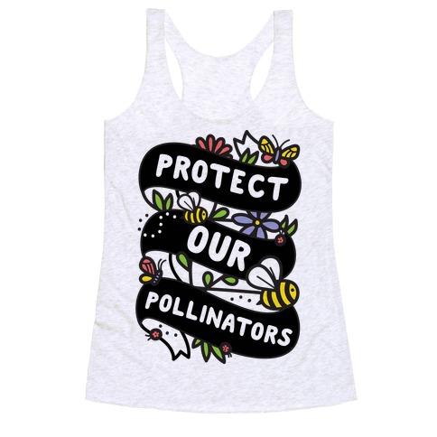 Protect Our Pollinators Racerback Tank Top