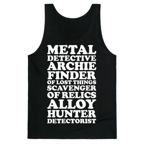Metal Detective Archie Finder Of Lost Things Tank Top