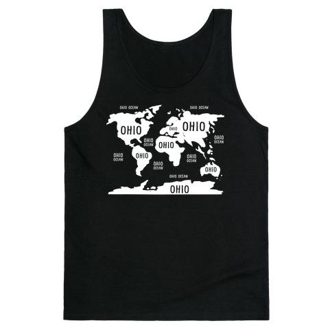 The Ohio World Map Tank Top