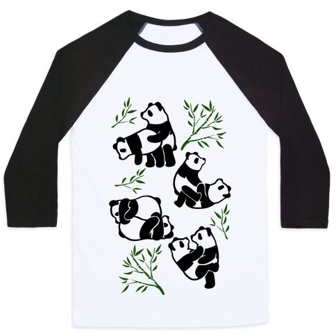 Pandas in Various Sexual Positions Baseball Tee