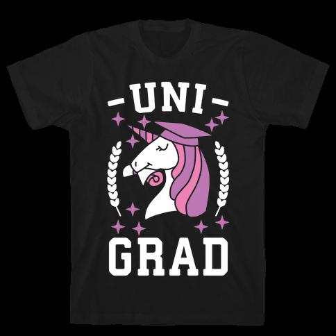 Uni Grad - Unicorn Mens/Unisex T-Shirt