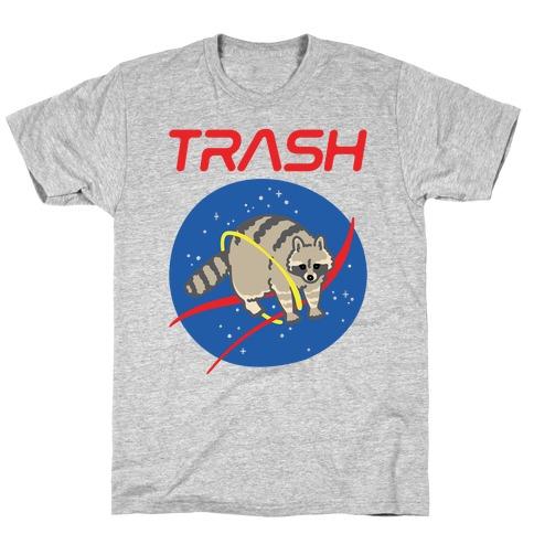Trash Raccoon Nasa Logo Parody T-Shirt