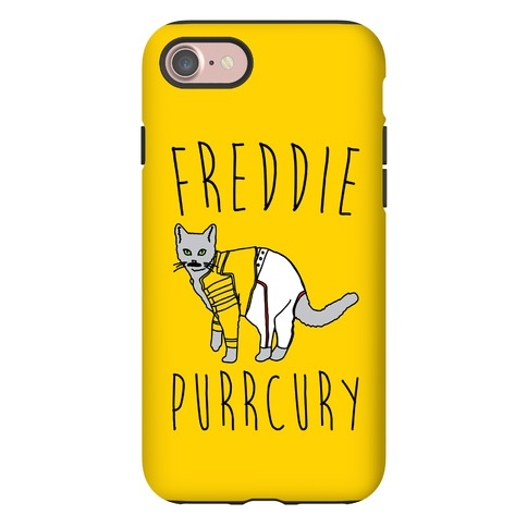 Freddie Purrcury Cat Parody Phone Case