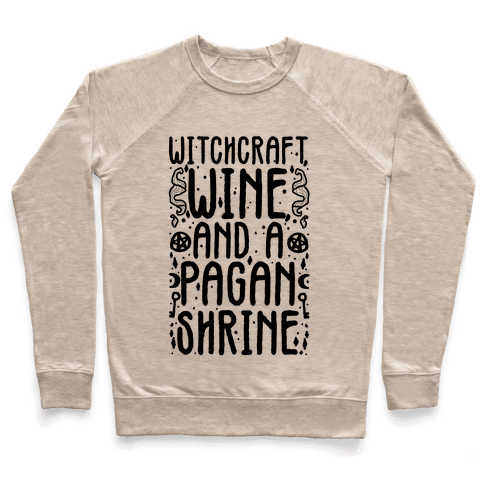 Witchcraft, Wine, and a Pagan Shrine Pullover