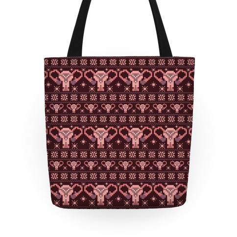 Uterus Sweater Pattern Tote
