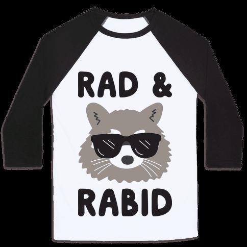 Rad & Rabid Baseball Tee