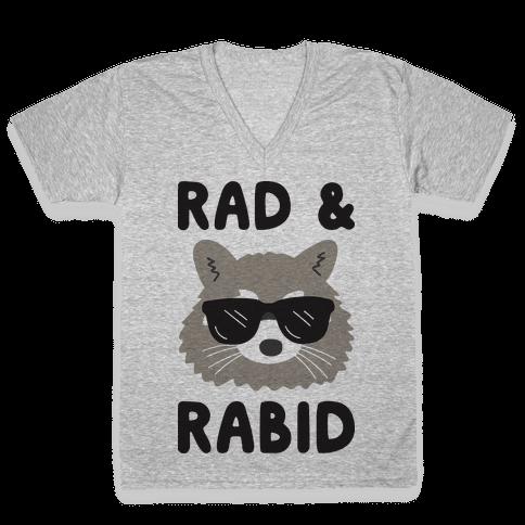 Rad & Rabid V-Neck Tee Shirt