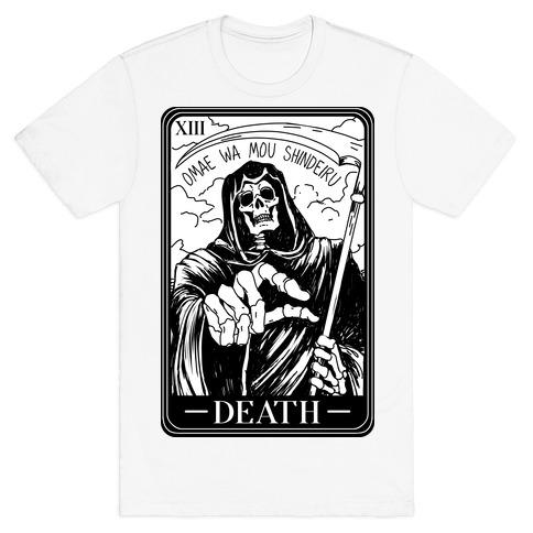 Omae Wa Mou Shindeiru Death Tarot Card T-Shirt
