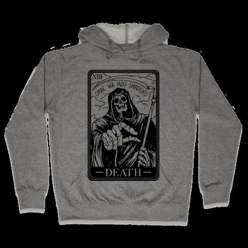 Omae Wa Mou Shindeiru Death Tarot Card Hooded Sweatshirt