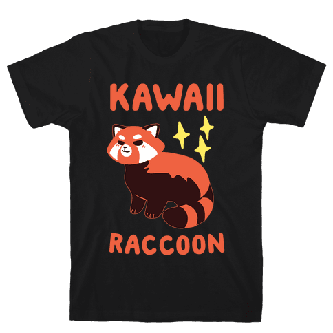 Kawaii Raccoon - Red Panda Mens T-Shirt