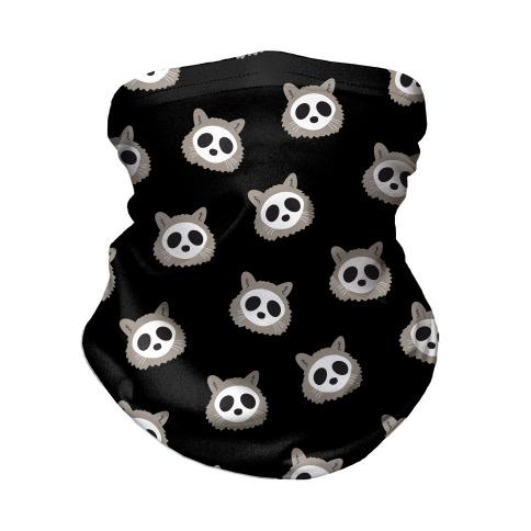 Raccoon Skull Pattern Neck Gaiter