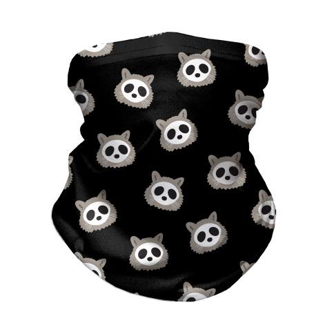 Raccoon Skull Pattern Neck Gaiter