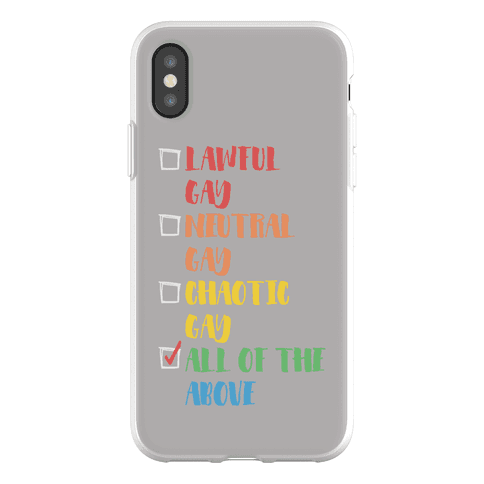 Lawful Gay Neutral Gay Chaotic Gay Phone Flexi-Case