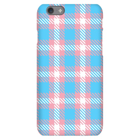 Trans Pride Flag Plaid Phone Case