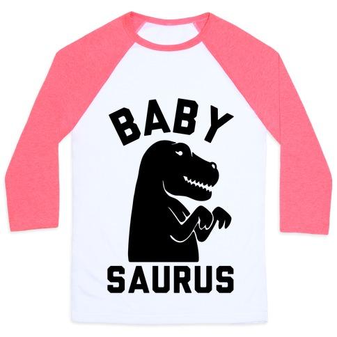 Baby Saurus Girl Baseball Tee