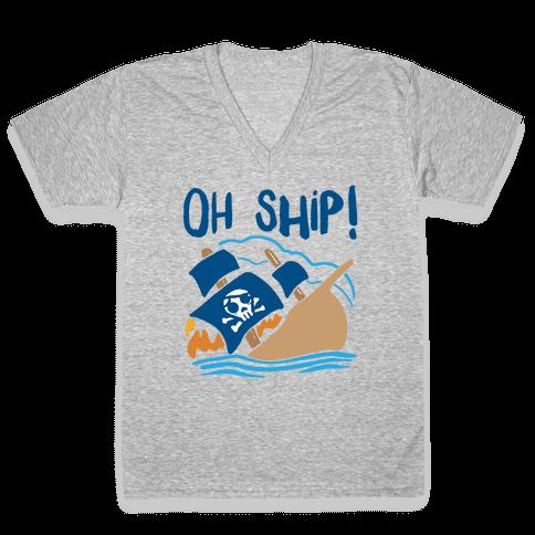 Oh Ship V-Neck Tee Shirt