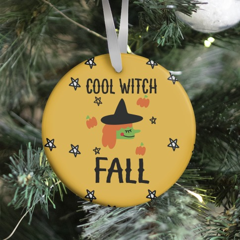 Cool Witch Fall Ornament