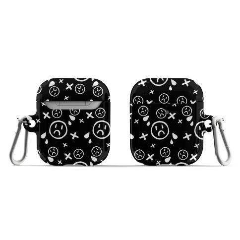 Emo Pattern Black AirPod Case
