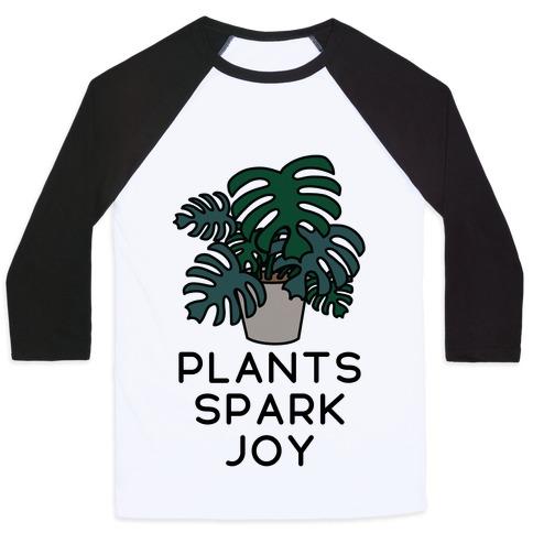 Plants Spark Joy Baseball Tee