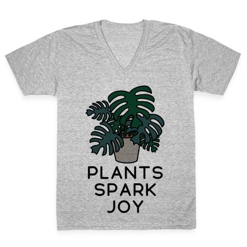 Plants Spark Joy V-Neck Tee Shirt