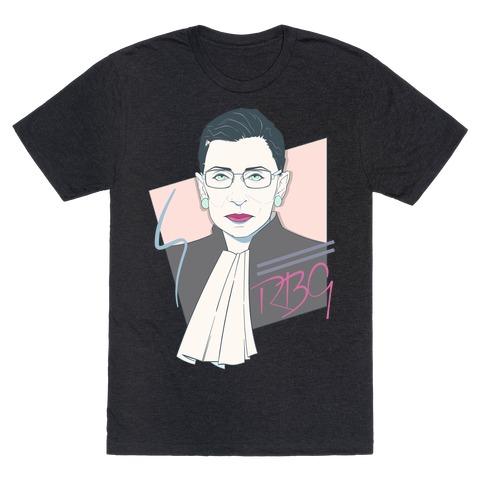 80's Ruth Bader Ginsburg White Print T-Shirt