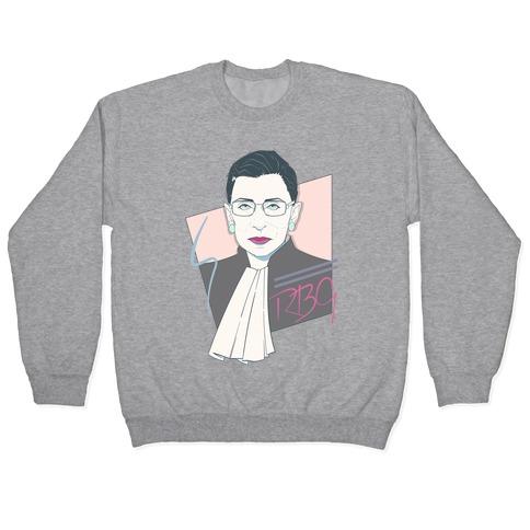 80's Ruth Bader Ginsburg White Print Pullover