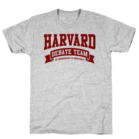 Harvard Debate Team Parody Shirt Mens T-Shirt