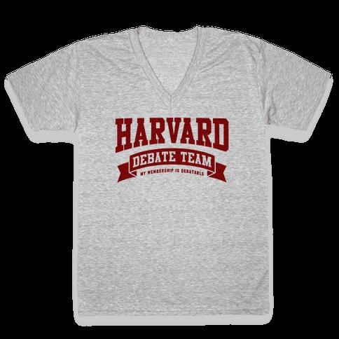 Harvard Debate Team Parody Shirt V-Neck Tee Shirt