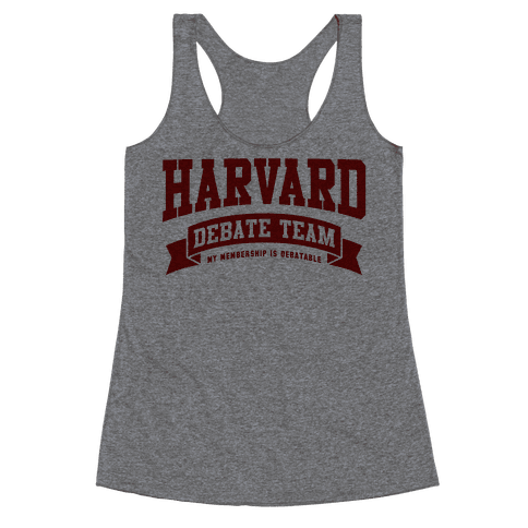 Harvard Debate Team Parody Shirt Racerback Tank Top