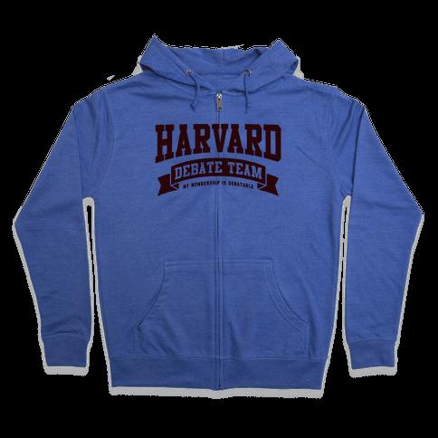 Harvard Debate Team Parody Shirt Zip Hoodie