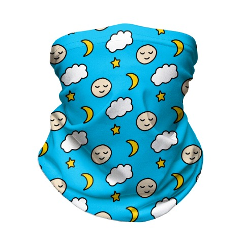 Sleepy Little Moon Neck Gaiter
