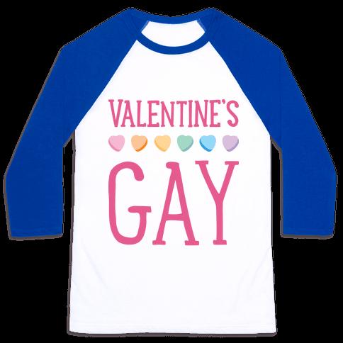Valentine's Gay Baseball Tee