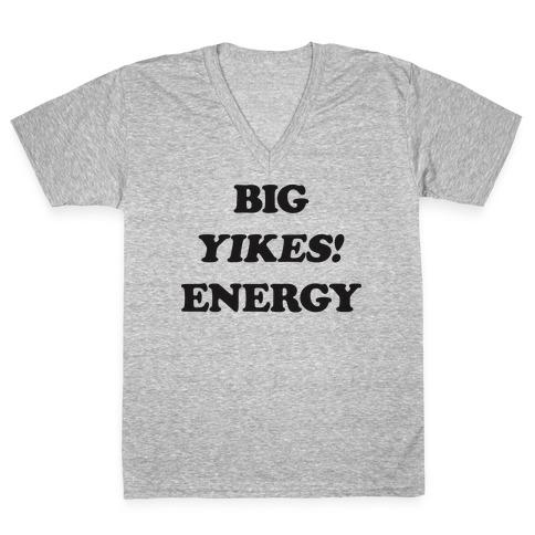 Big Yikes! Energy V-Neck Tee Shirt