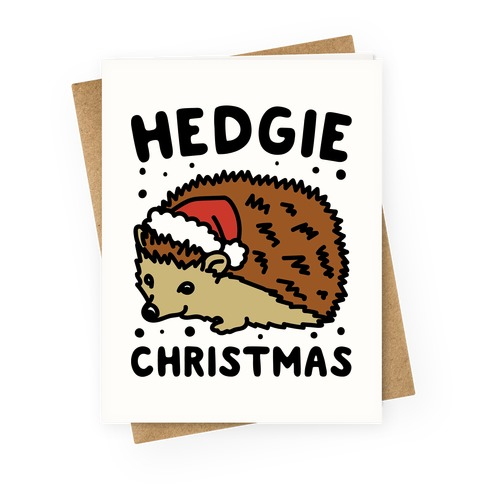 Hedgie Christmas Greeting Card