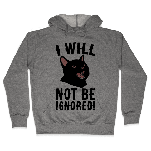 I Will Not Be Ignored Hooded Sweatshirt