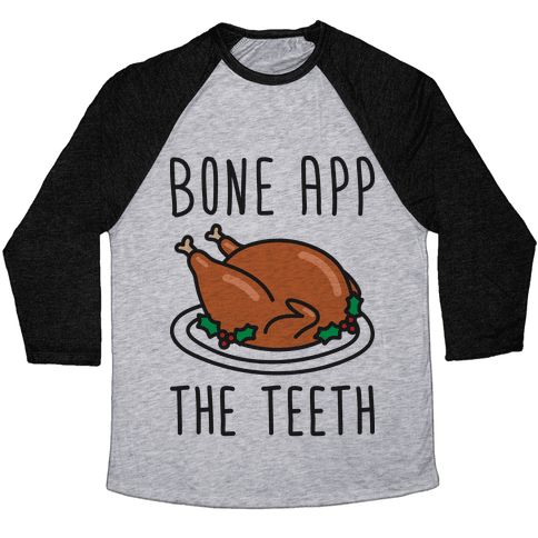 Bone App The Teeth Baseball Tee