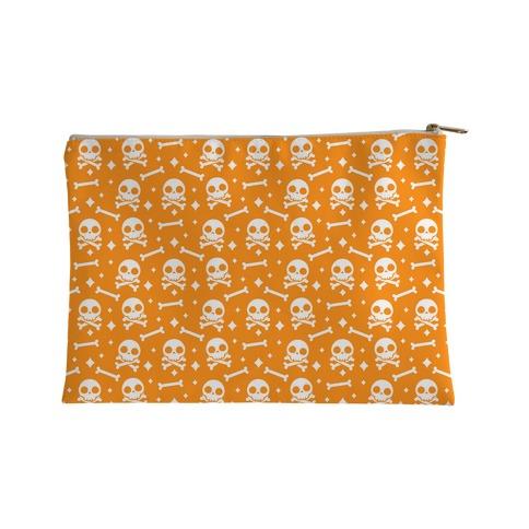 Cute Skull N' Bones Pattern (Orange) Accessory Bag