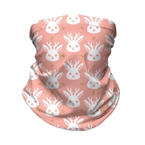 Cute Jackalope Pattern Neck Gaiter