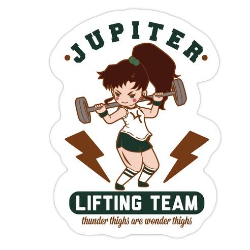Jupiter Lifting Team Workout Parody Die Cut Sticker