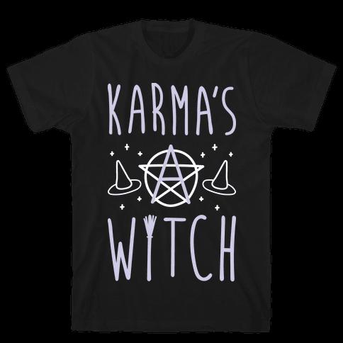 Karma's A Witch (White) Mens T-Shirt