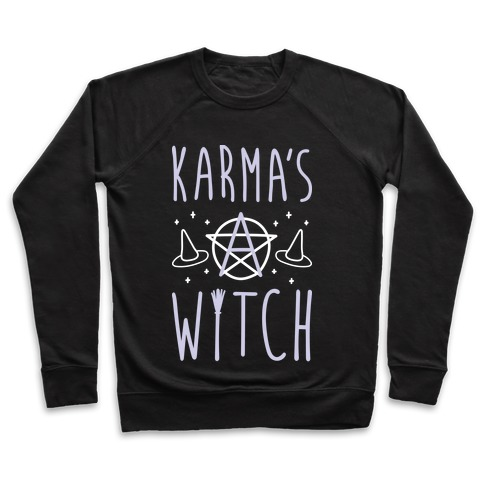 Karma's A Witch (White) Pullover