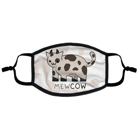 Mew Cow Flat Face Mask