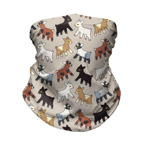 Baby Goats On Baby Goats Pattern Neck Gaiter