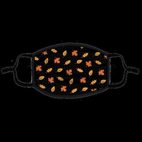 Fall Leaves Pattern Flat Face Mask
