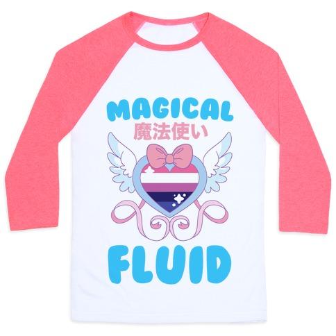 Magical Fluid - Genderfluid Baseball Tee