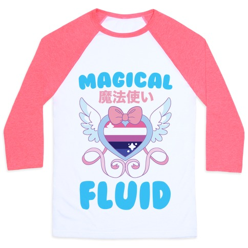 Magical Fluid - Trans Pride Baseball Tee