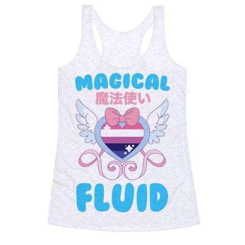 Magical Fluid - Genderfluid Racerback Tank Top